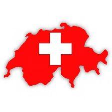 """Auto Aufkleber SCHWEIZ Switzerland Decal Sticker 11cm (4.3"""") konturg. die-cut"""