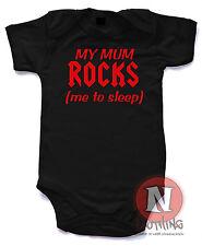 Naughtees Ropa mi mamá rocas me Para Dormir De Algodón Lindo babygrow Bebé Traje Chaleco