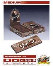 Papel de fumar Smoking brown  1 1/4 tamaño normal. papel Natural. 25 libritos.