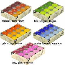 24 Teelichte Ø38mm 16mm Teelichter Farbmix Kerzen Deko Party bunt Tischdeko