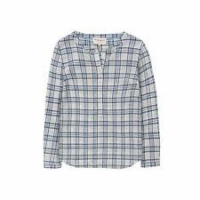Quba Sails Ladies Shannon Check Shirt - Blue / White -Sizes 12 & 16 -rrp: £59.99