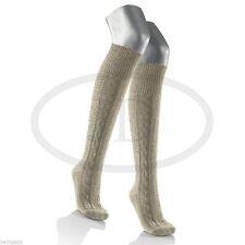 Kniebundstrümpfe Leinen Strümpfe Baumwolle natur beige Trachten Kniestrümpfe