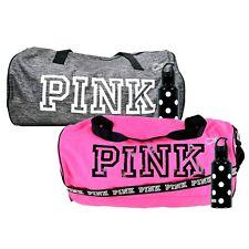 Victoria's Secret Pink Duffle Bag & Water Bottle Polka Dot Pink on Fleek Gray