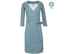 Tranquillo Kleid Lysanne Gots zertifiziert blau organische Baumwolle organic