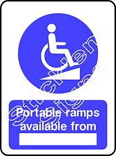 Rampe portatili disponibile da (vano) dda0007 disabilitato adesivi e insegne