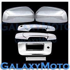 07-12 GMC Sierra Chrome Top Mirror+2 Door Handle+Tailgate w/KH no camera Cover