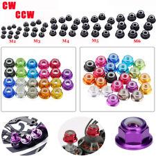 10PCS CW CCW M2/M3/M4/M5/M6 Nylon Insert Self-Lock Nuts Hex Lock Nut 11 Colors