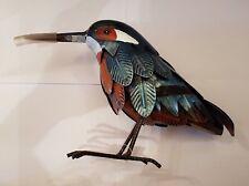 Kreatif Kraft - Robin OR Kingfisher Metal Bird Garden Ornament Hand Painted