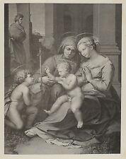 1881-MADONNA DELLA SACRA FAMIGLIA A NAPOLI-VERGINE E LA BENEDIZIONE-RAFFAELLO