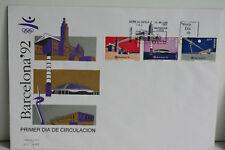 ENVELOPPE PREMIER JOUR ESPAGNE BARCELONA 92
