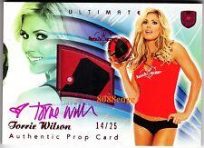 2010 BENCHWARMER ULTIMATE PROP AUTO: TORRIE WILSON #14/25 AUTOGRAPH PLAYBOY/FHM