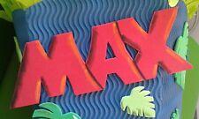 Schriftzug für Schultüte Türschild Moosgummi Wunschname,- Farbe handmade 5 cm