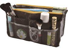 Women Travel Organiser Handbag Bag Dual Function Bag Purse Tidy Black/Blue/Pink