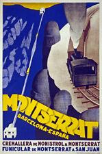 TW70 Vintage 1920 Montserrat Spain Spanish Travel Poster Re-Print A1/A2/A3