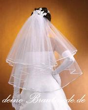 Schleier Brautschleier Feintüll Braut Hochzeit weiss creme neu
