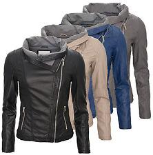 Femmes Veste en simili-cuir Veste de période de transition COURT BLOUSON MOTARD