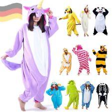 Jumpsuit Onesie Damen Herren Erwachsene Kostüm Anzug Pyjama Schlaf-Anzug Overall