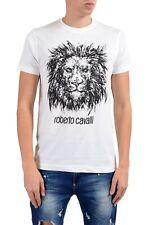 Roberto Cavalli Men's White Graphic Lion Crewneck T-Shirt Size S M L XL 2XL