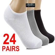 24 Pairs Mens/Ladies Sport Performance Trainer Low Cut Socks Shoe Sizes 4-6/6-11