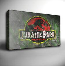 JURASSIC PARK Logo - PREMIUM Quality Canvas Art Picture *Choose your size