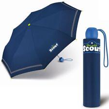 Scout niños Paraguas de Bolsillo Mini Pequeño Estable Azul NUEVO
