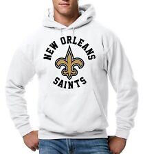 New Orleans Saints Pullover Hoodie Hooded White Sweatshirt