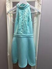 ASOS PETITE Premium Bodycon Dress Scuba High Neck Cut Word RRP £65 (AS-24/4)