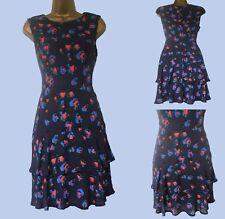 NEW F*F NAVY BLUE RED  VINTAGE RA RA STYLE TEA  DRESS  8 10 12 14 16 18 20