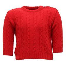 9464U maglione bimbo PAIO CRIPPA lana merino wool red sweater kid