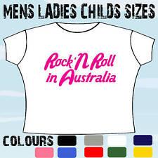 ROCK N ROLL IN AUSTRALIA OZ FUNKY MUSIC T-SHIRT