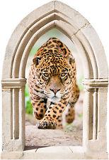 Sticker mural trompe l'oeil Arche déco léopard réf 885