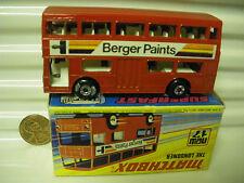 MATCHBOX MB17B BERGER PAINTS BUS BLK MTL BASE 5 SPOKE Wheels + Axle Braces MIB*