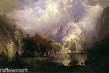 Albert Bierstadt Rocky Mountain Landscape Fine Art  Giclee Canvas Print
