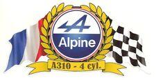 Sticker ALPINE RENAULT A310 4cyl flags