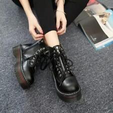 fashion Women's lace up zipper combat riding boots platform oxford shoes b254
