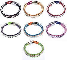 Survival friendship bracelet,wax cord with zinc alloy clasp