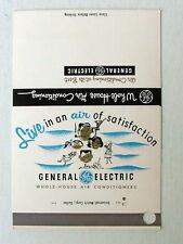SALESMAN SAMPLE MATCHBOOK GENERAL ELECTRIC COMPLETE LINE HEATING & COOLING EQUIP