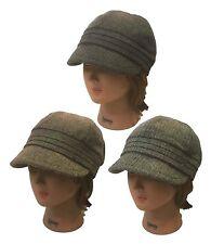 Ladies Women Ivy Herringbone Newsboy ElastaFit Church Dress Fashion Hat Cap