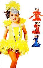 Kinder Mädchen Karneval Fasching Rio Samba/Cheerleader Cosplay Kostüm Dress-Set