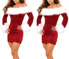 Mini Vestito Donna Natale Babbo Natale Cosplay Hostess Christmas dress HOS057