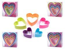 Lot de 5 moule emporte-pièce en forme de coeur en plastique alimentaire amour