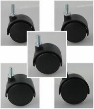 MS Beschläge® Möbelrolle Hartbodenrolle Lenkrolle aus Kunststoff Gewindestift
