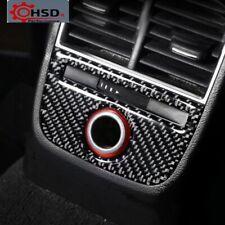 Carbon Fiber Rear Seat Cigarette Lighter Panel Trim Cover For Audi A3 S3 2014-18