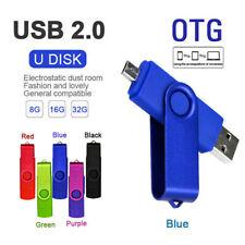 16GB 8GB OTG Micro USB Stick Flash Drives Photo Mobile Memory Data Media Storage