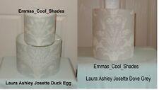 Handmade Lampshade Laura Ashley Josette Duck Egg or Dove Grey Fabric Drum Shade