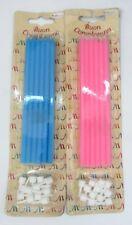 12 PIEZAS velas velas velas rosa o azul largo 15 cm partido cumpleaños fiesta