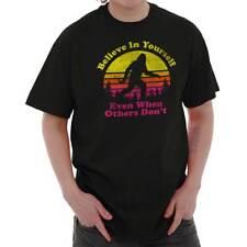 Believe In Yourself Inspirational Funny Bigfoot Sasquatch T Shirt Tee