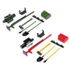 1/10 RC Crawler Tools Kit Winch Tank Jack Axe Shovel Spade Accessories Parts