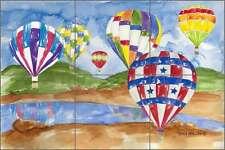 Ceramic Tile Mural Backsplash Mullen Hot Air Balloons Art Sm037