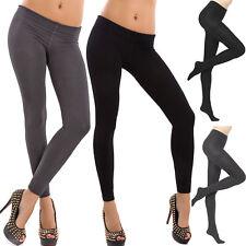 Stock 2 Pièces Leggings Collants Micro Laine Polaire Pompea Femme Thermiques